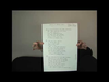 Annie Lennox - Sing eBay Auction Lot- Handwritten lyrics Walking On Broken Glass